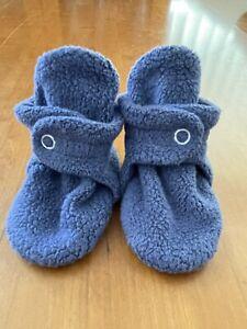Zutano NWOT Navy Blue Fleece Booties- 6 Months