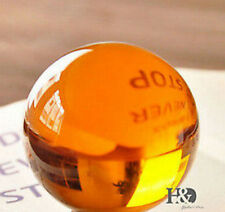 40mm+Stand Rare Magic Amber Crystal Healing Ball Sphere With Removable Base Q02