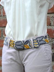 Hand embroidered belt Floral, peruvian belt, boho belt ethno perugürtel