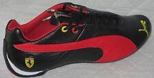 MEN'S PUMA FUTURE CAT LEATHER SF-10- SCUDERIA FERRARI BLACK/RED SHOES SIZE 8