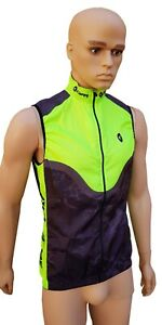 men Cycling Gilet fluorescent bicycle top sportswear