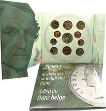 Belgium FDC 2001 Adieu au franc Belge Afscheidvan de Belgische frank