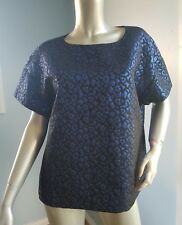 Thurley blue boxy short sleeves top size L NWOT