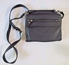 Kenneth Cole Black Leather Shoulder Crossbody Handbag Purse