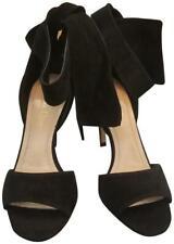Christian Dior Women La Belle D Sandals Black Suede Size 39.5eu Retail