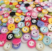 500pcs Mixed Color Round 2 Holes Resin Buttons Fit Sewing and Scrapbook Urk512