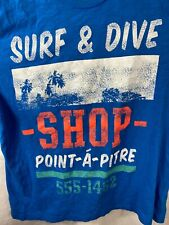 New listing Vintage 1993 LOGG Surf Dive Shop Single Stitch Men T-Shirt Point a pitre XL Blue