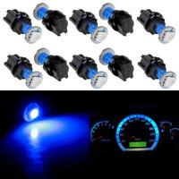 10 PC74 T5 LED Twist Socket Blue Instrument Panel Cluster Plug Dash Lights Bulb