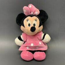 Disney Minnie Mouse Pink Dress Plush  Stuffed Toy 13 Inches Tall Free Shipping