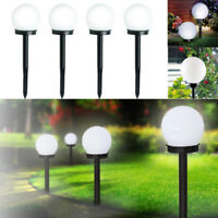 2PCS/SET LED Solar Power Outdoor Garden Path Light Yard Lawn Road Spot Lamp Bulb