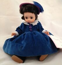 "Madame Alexander 8"" Blue Scarlett Doll w Moving Brown Eyes & Feather Hat"