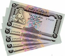 LOT 5 BILLETS Yemen Billet  20 Riyals UNC NEUF