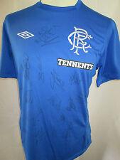 Rangers 2012-2013 Home Football Shirt firmado por 2013-2014 Squad Con Coa / 31965