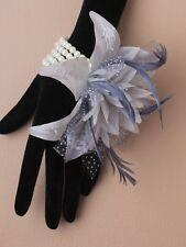 6 x Grey Flower wrist corsages weddings bridesmaids flowergirls Hen Night Party