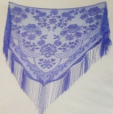 Lavender  Victorian Style Lace Shawl