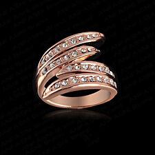 18K Rose Gold Plated Angle Wing Ring/Thumb Ring wih Zircon Rhinestone Jewelry UK
