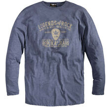 Replika Jeans Long Sleeve T-Shirt/Chambray Blue - 2XLT WAS £35.00