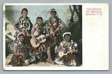 Hula Dancers & Musicians HONOLULU Hawaii Antique UDB Wall Nichols Cancel Stamp