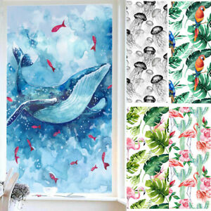 3D Animal Frosted Static Cling Cover Window Glass Film Stickers Privacy Protect.