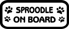 Sproodle On Board Car, Van sticker, decal paw print