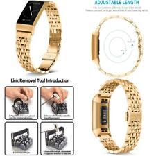 Fitbit Charge 4 Band Stainless Steel Link Bracelet Adjustable Luxury Women Men