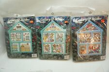 CHRISTMAS CROSS STITCH KITS LOT 3 BUCILLA EMBROIDERY GALLERY OF STITCHES MIP