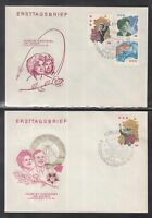 DC 02 ) DDR East Germany 1963 Visit of Soviet cosmonauts of 2 FDC