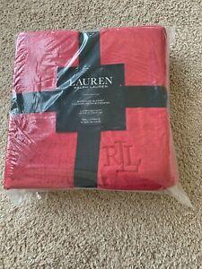 BNWT Lauren Ralph Lauren Micromink Plush blanket, Pick size/color