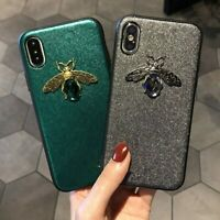Luxury Diamond Unique 3D Bee Cover Case Phone For iPhone 6 7 8 For Samsung S 8/9