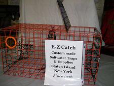 E-Z Catch PVC Orange  Commercial Grade heavy Duty Crab Pot / Trap American Made