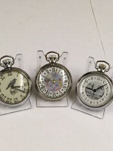 Vintage Masonic / memento mori Pocket Watch X3 Working