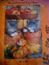 "New listing Evergreen Decorative Garden Flag #131846 Barrel of Apples Harvest 29""x43"" Nwt"