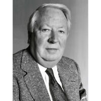 Warren Portrait Prime Minister Ted Heath Photo Canvas Wall Art Print Poster