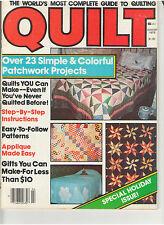 QUILT MAGAZINE 1979 APPLIQUE TO MAKE QUILT FRAME CRANBERRY PATTERNS INSTRUCTIONS