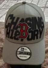 Boston Red Sox '9 Forty NEW ERA Chasing History Snapback Vintage Hat Cap New!
