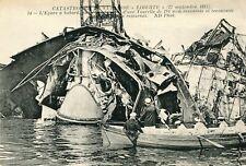TOULON Catastrophe Cuirassé Liberté1911  Epave à babord Pivot Tourelle