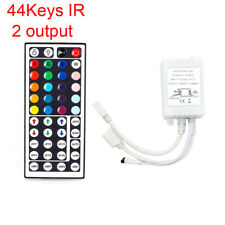 DC12V 5050 RGB LED Strip 44Key Wireless Remote Controller Adapter Dual Output