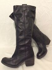 Dune Black Knee High Leather Boots Size 36