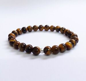 TIGERS EYE BRACELET STERLING SILVER  - Made to measure