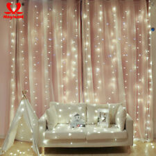 Christmas 600 LED Curtain Icicle String Light Party Garden Decorative Fairy Lamp