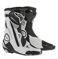 Alpinestars SMX PLUS Black/White  - Sports Motorcycle/Motorbike Boots SAVE £95