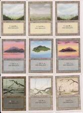 100 White border 20 of each type! basic land magic the gathering MTG cny