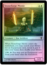 Stoneforge Mystic x1 WWK FOIL Worldwake Magic MTG Card Lightly Played