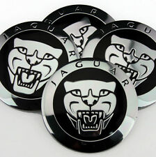 "4x 56mm 2.2"" silver Emblem Decal fit Jaguar Leopard auto Wheel Center Hub Cap"