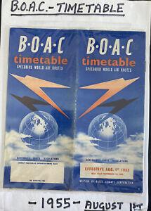 British Overseas Airways BOAC Timetable Speedbird Information Brochure 1955