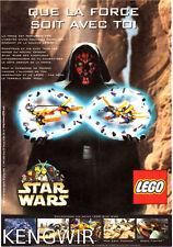 "PUBLICITE  PUB  ADVERTISING  "" STAR WARS  "" LEGO  DARK MAUL 1999  RARE"