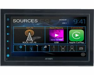 """CAR68 Jensen 6.8"""" Media Receiver with Apple CarPlay and Android Auto (NO DVD,CD)"""