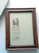 """Fetco Beacon Hill 5"""" x 7"""" Picture Frame in Box Hand Crafted Exotic Wood Oakwood"""