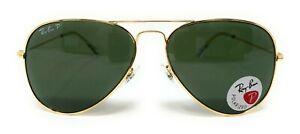 Ray Ban Aviator Polarized Gold Frame Sunglasses