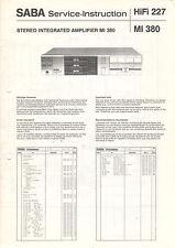 SABA Service Manual Anleitung HiFi 227 MI 380   B1668
